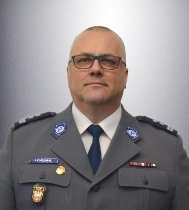 Zastępca komendanta młodszy inspektor Krzysztof Chochliński